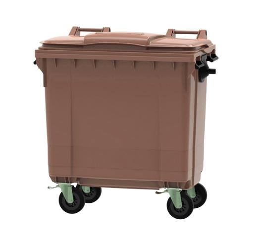 770 Litre Wheeled Bin in Brown