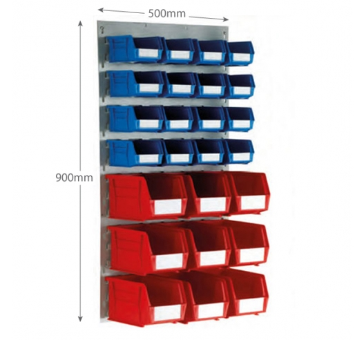 Linbin Louvre Panel Kit With 16 x Size 2 and 9 x Size 4 Linbins