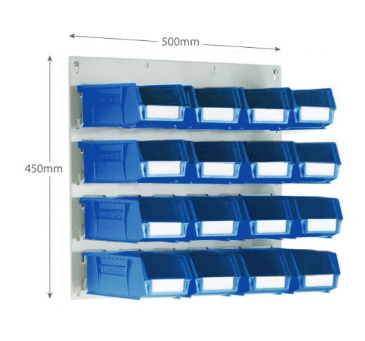 Linbin Louvre Panel Kit With x16 Size 3 Linbins