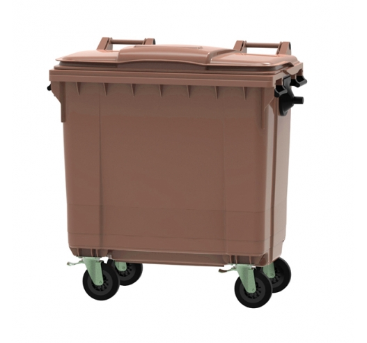 Brown 770 litre wheeled bin
