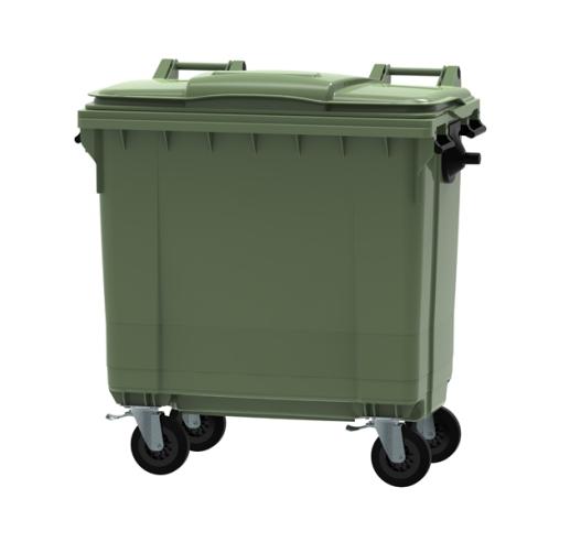Green 770 litre wheeled bin