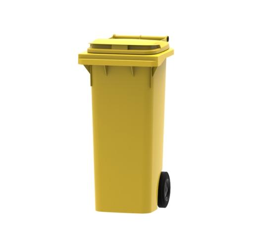 80 litre wheelie bin in yellow