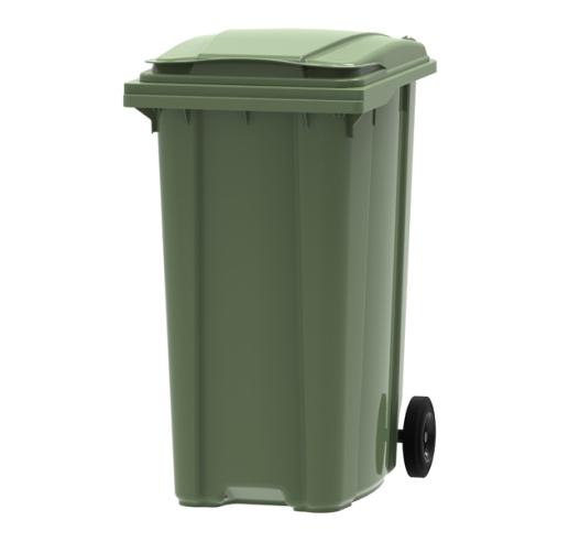 Green 360 litre wheelie bin