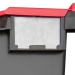 Clear label holder on LC3 Plastor Black and Red Crates