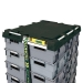 The Loadhog pallet lid secures boxed product to pallets