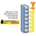 Kanban CTB Containers stack up to 7 bins high
