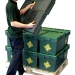 Loadhog pallet lid with plastic crates