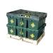 Loadhog pallet lid on plastic crates