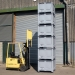 Plastic Pallet Boxes Stacked 6 High