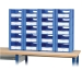 20 Small Euro Container Pick Walls with Open Fronts