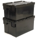 Stacked Black Tote Boxes with 52 Litre Capacity