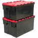 Stacked Black and Red Boxes with 52 Litre Capacity