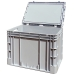 Hinged Lid Euro Stacking Container Case 440mm Deep