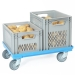 Ventilated Euro Containers on Dolly