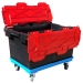 LC3-P Plastor Storage Box on Plastic Crate Dolly with Wheels