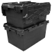 Stackable and Nestable LC3 80 Litre Large Black Storage Crates