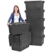 LC3 Large Plastic Crates in Black