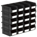 Size 3 Linbins in Black Recycled Plastic