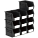 Size 4 Linbins in Black Recycled Plastic