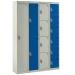 Grey and blue steel lockers