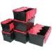 Black and Red Attached Lid Container Group