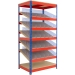 5 Sloping shelves with containers