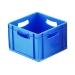 Square Blue Plastic Stackable Box