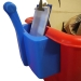 Blue handle with contents