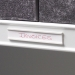Self Adhesive Label Holders in White