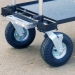 """Close up of 10"""" Wheel Conversion Kit Supplied with the Model"""