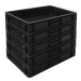 Group of Black Euro Containers