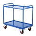 Tray Trolley With Steel Trays In Blue
