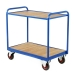 Tray Trolley With Timber Trays in Blue