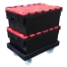 Containers on ROTO64D Dolly in Black
