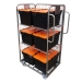 3 Sided Merchandise Trolley - Roll Cages with Tote Boxes
