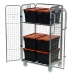 4 Sided Merchandise Trolley - Roll Cages with Tote Boxes